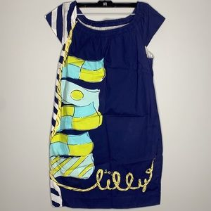 Lilly Pulitzer Mini Lilly Navy Patterned Dress